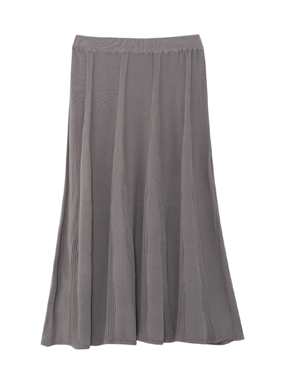 Sheer pleats midi flair skirt