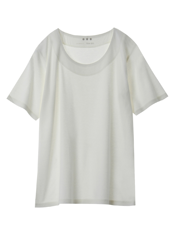 Ecovero cotton crew neck top