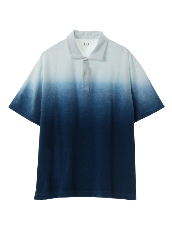 Men's dip dye s/s polo