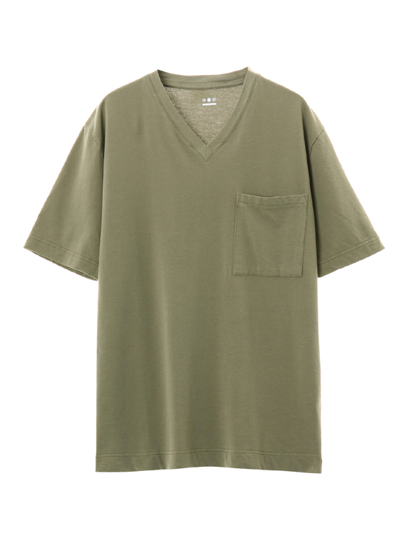 Men's king terry80 Vneck pocket