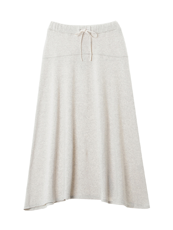 Organic french terry long skirt