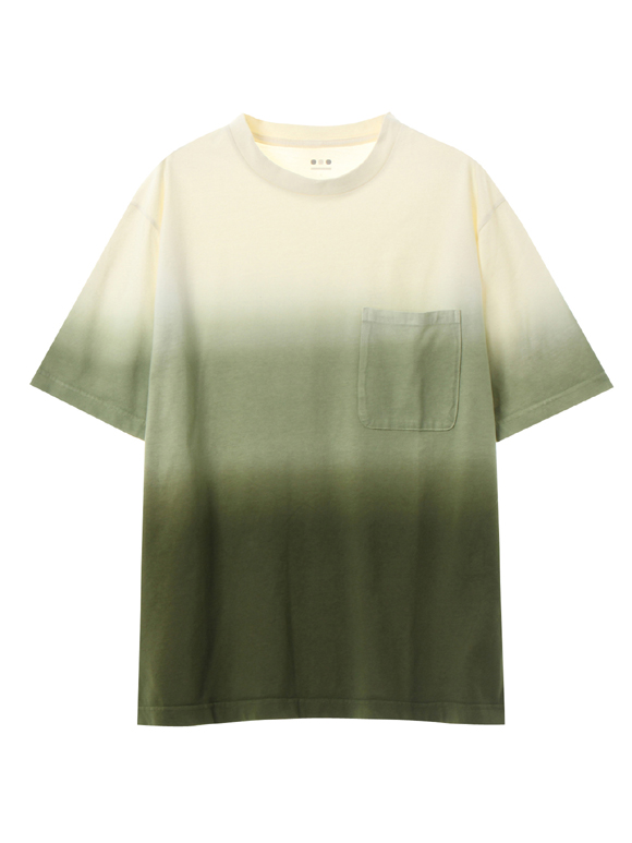 Men's gradation dye s/s pocket T