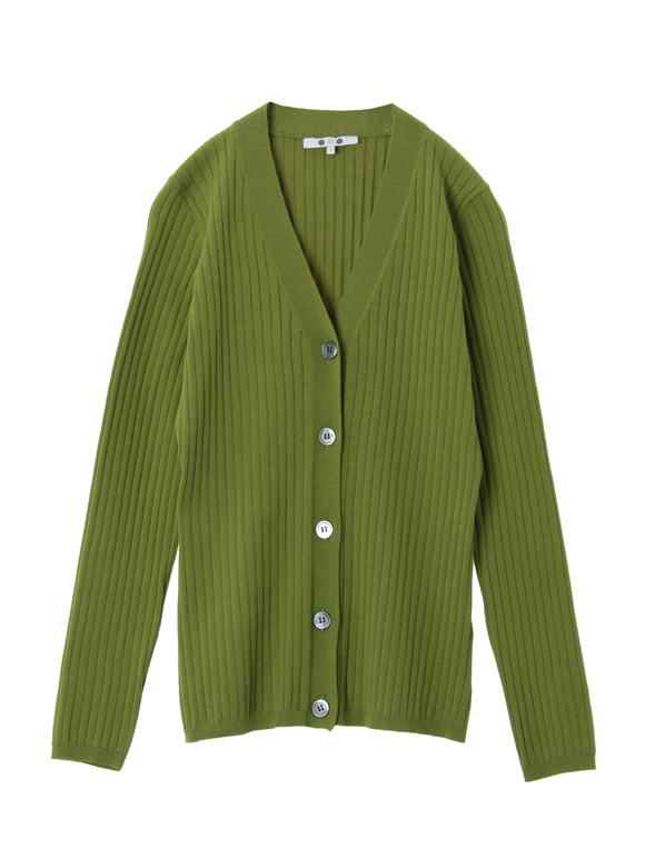High twisted cotton button cardy