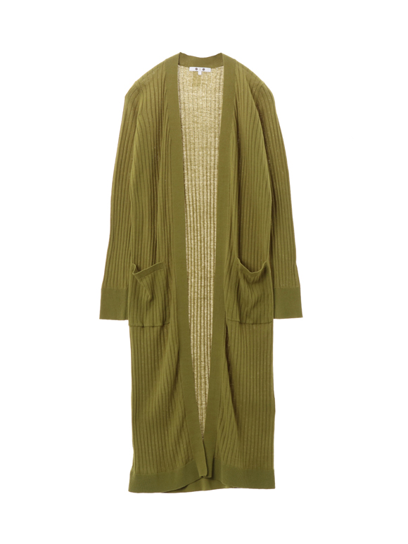 High twisted cotton longcardigan