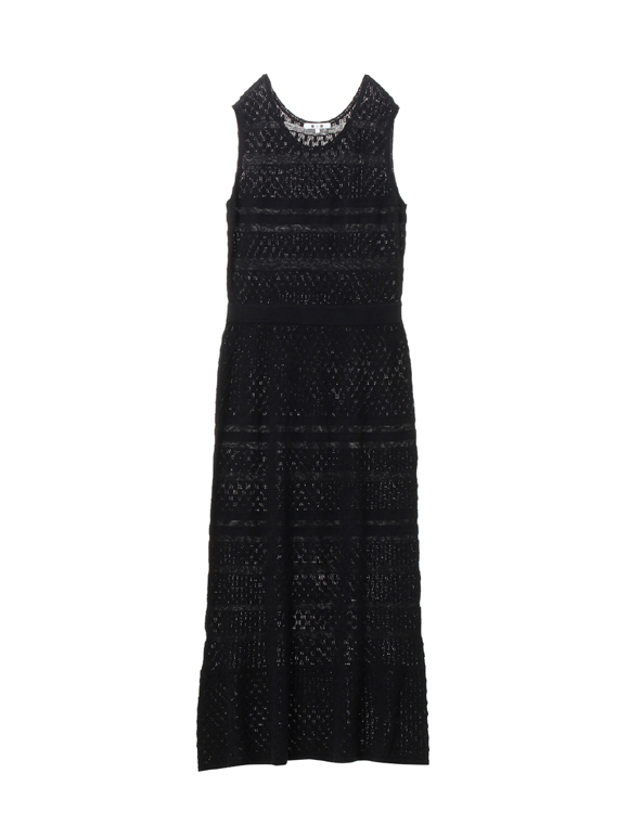 Knitted lace long dress