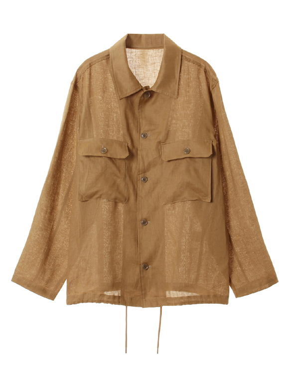 Men's high count linen outer