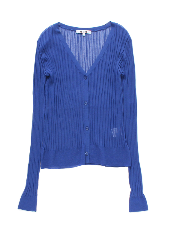 Sheer knit l/s cardigan