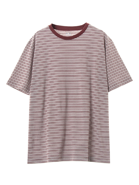 Men's sanded multi border crew T