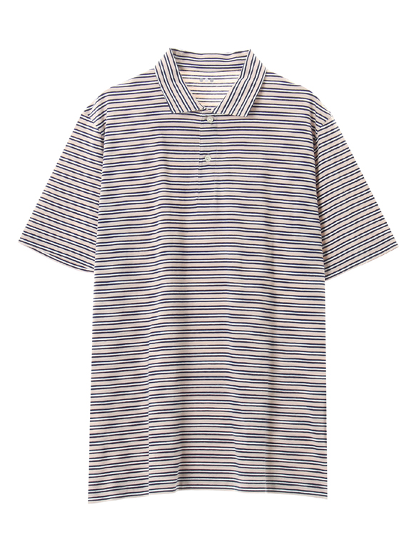 Men's sanded multi border polo