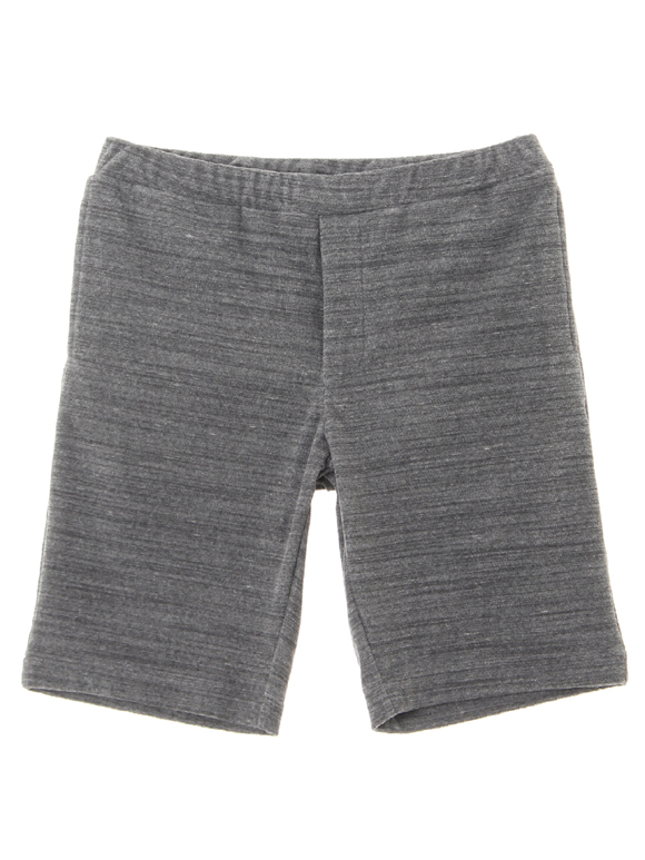 Men's melange slab pile shorts