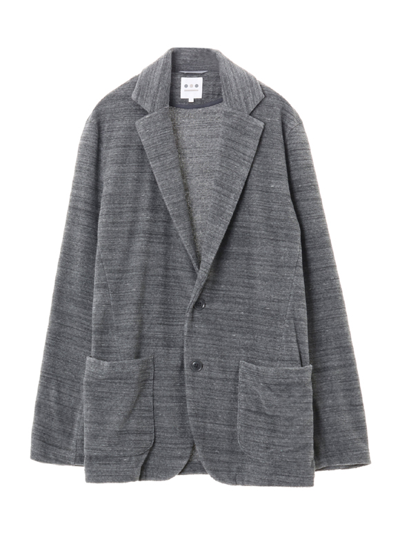 Men's melange slab pile jacket