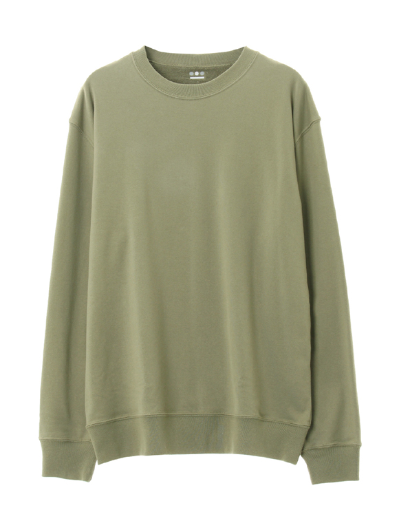 Men's silky long pile crew neck