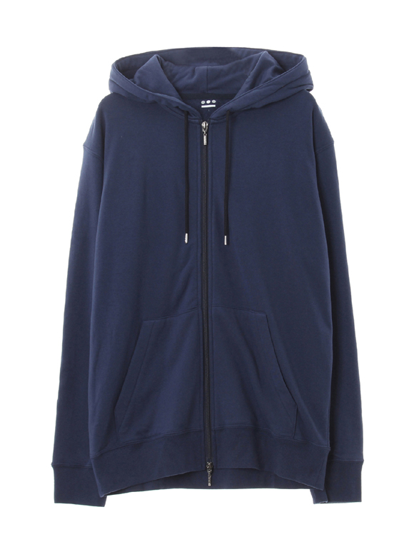 Men's silky long pile zip hoody