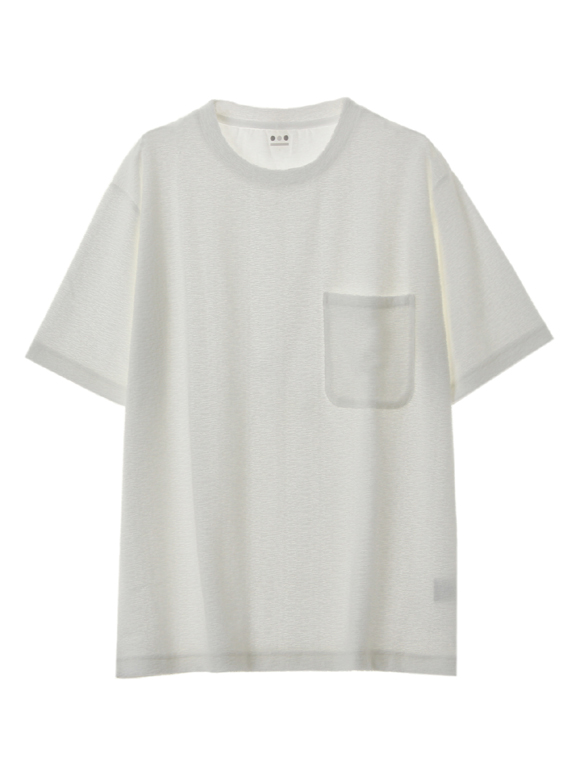 Men's jaquard pile s/s pocket T