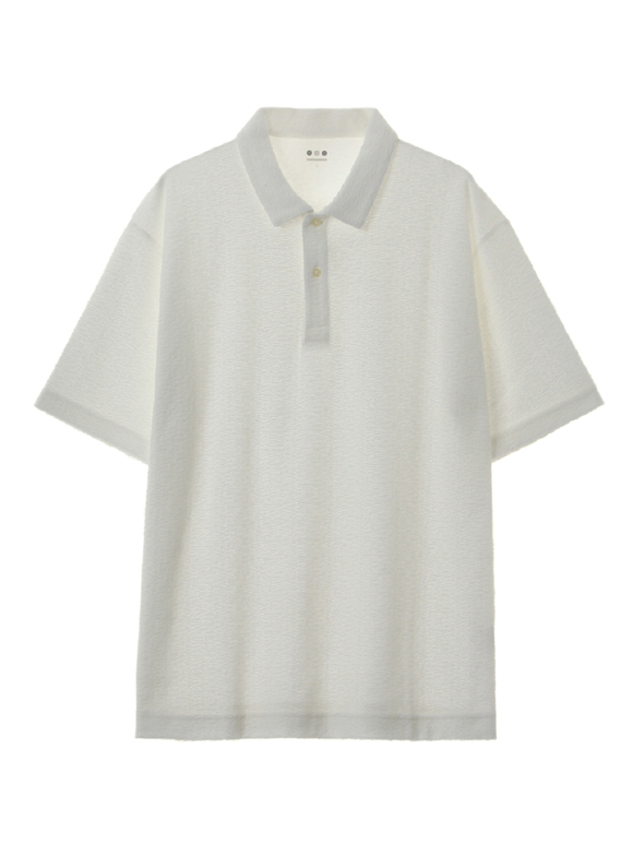 Men's jaquard pile s/s polo
