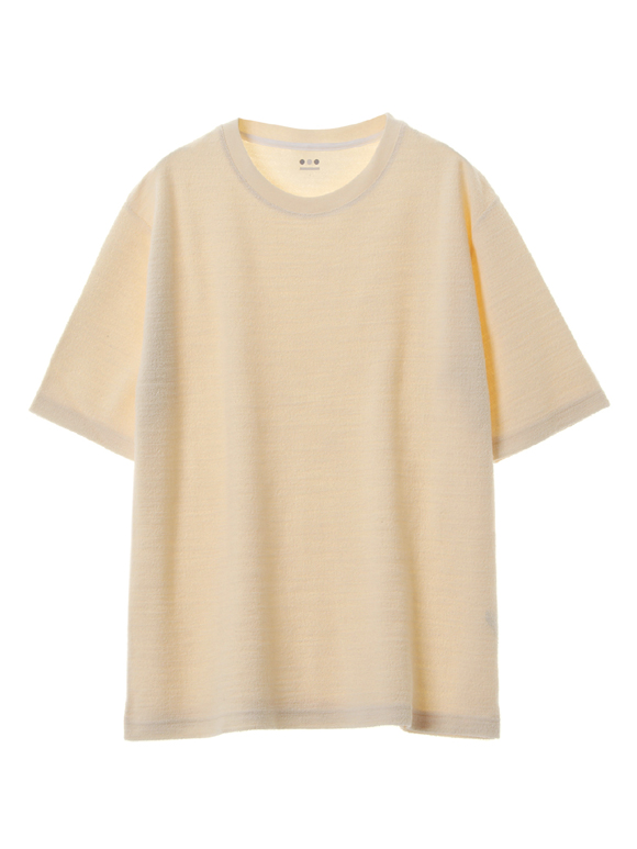 Slub crater terry crew neck T