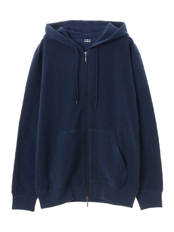 Slub crater terry zip hoody