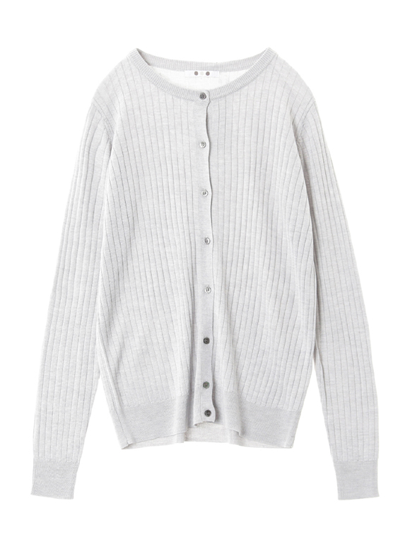 Washable silk l/s buttoncardigan