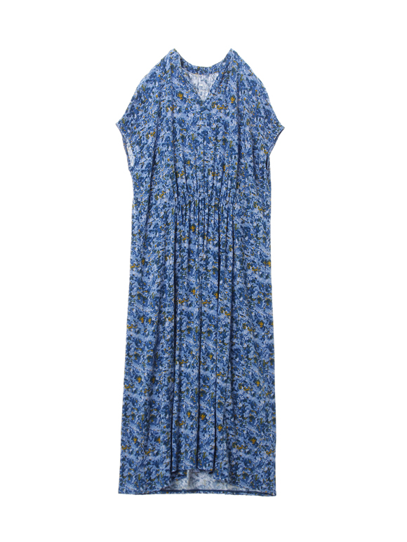 Spring shower print s/s dress