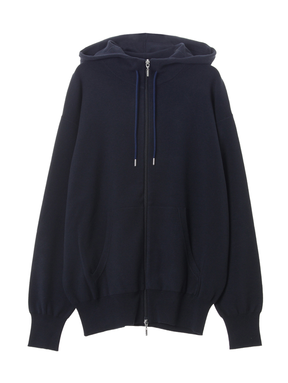 Men's 12G viscose l/s zip hoody