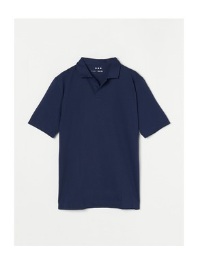 Men's powdery cotton skipper polo 詳細画像