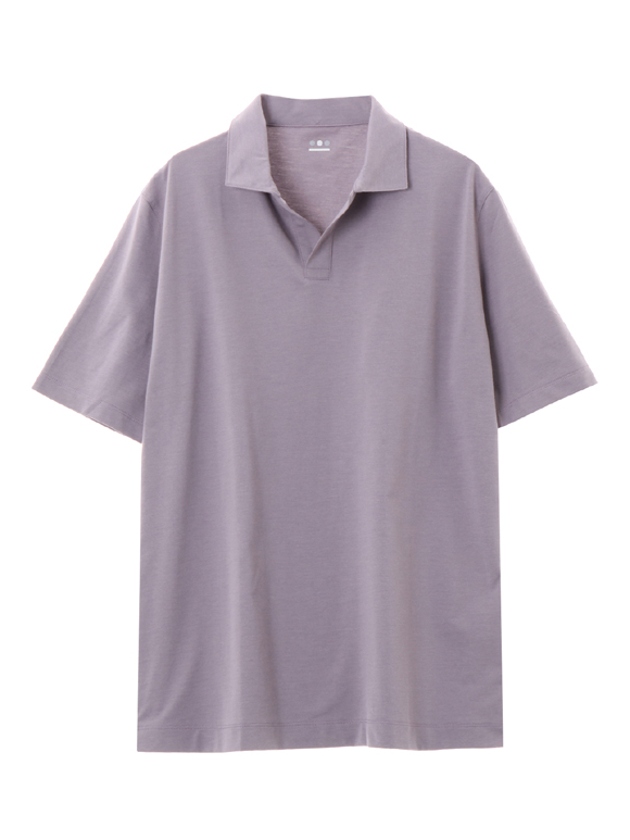 Men's powdery cotton skipper polo