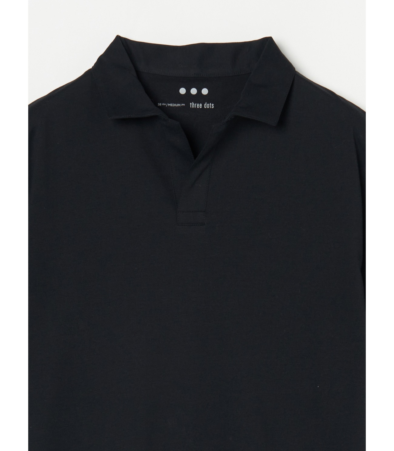 Men's powdery cotton skipper polo 詳細画像 black 2