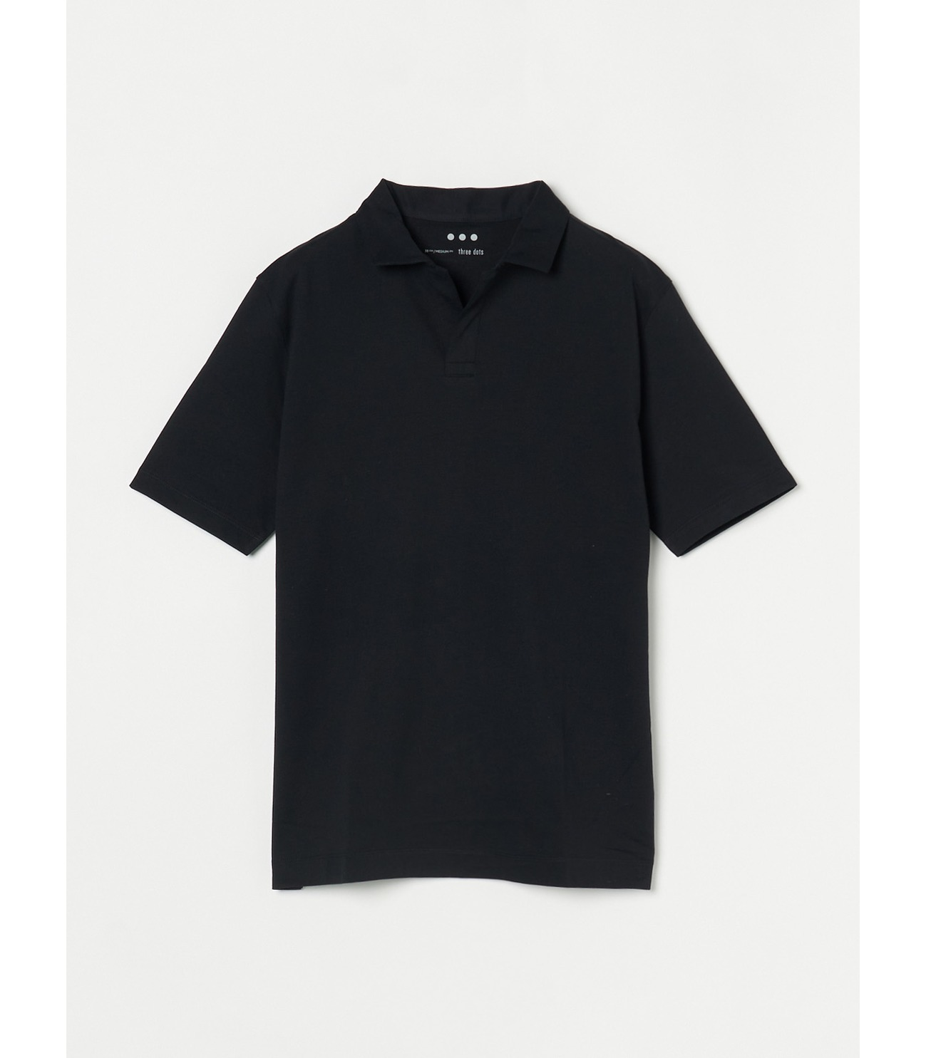 Men's powdery cotton skipper polo 詳細画像 black 1