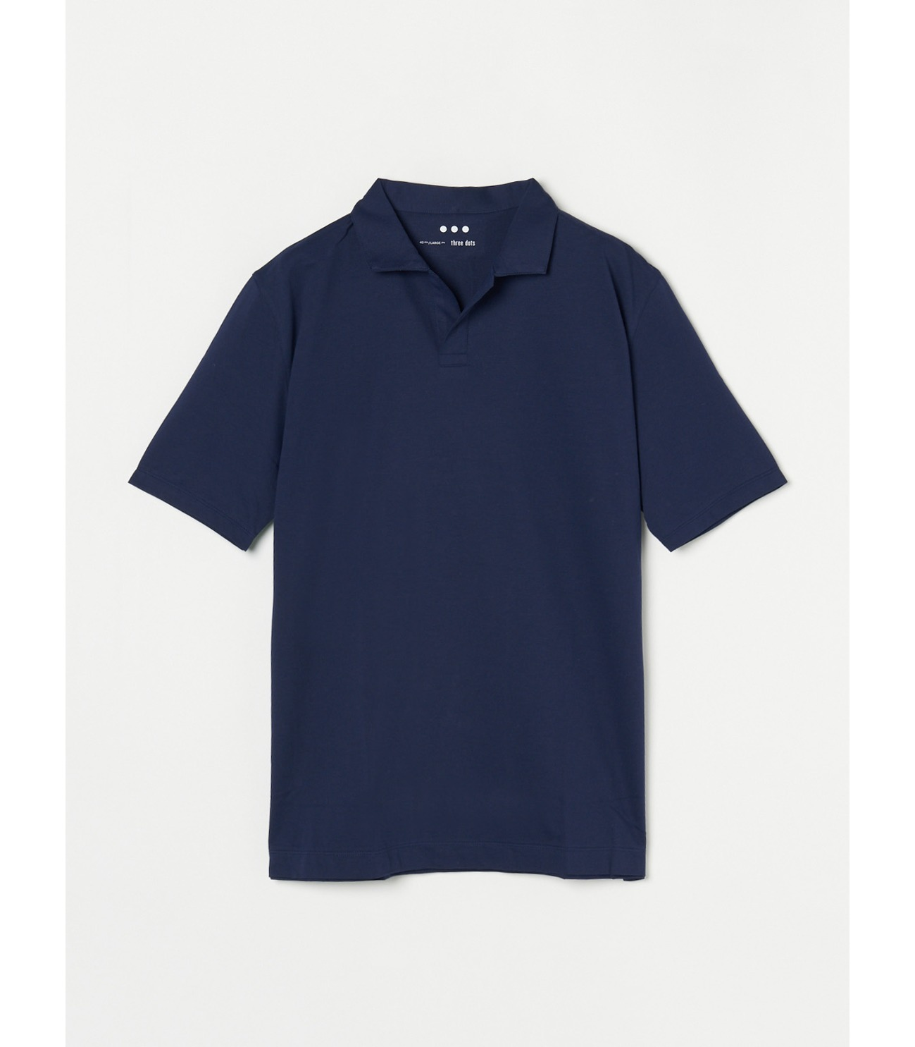 Men's powdery cotton skipper polo 詳細画像 night iris 1