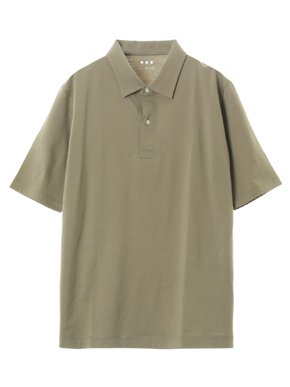 Men's cotton cashmere s/s polo 詳細画像