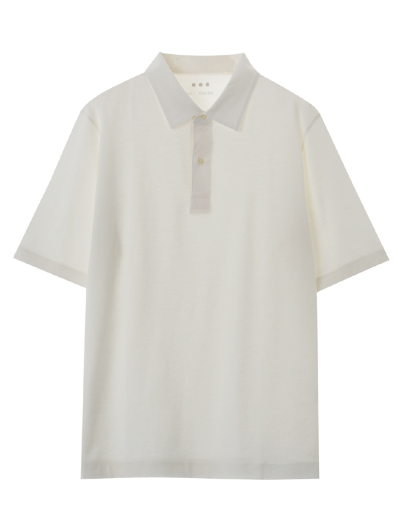 Men's cotton cashmere s/s polo