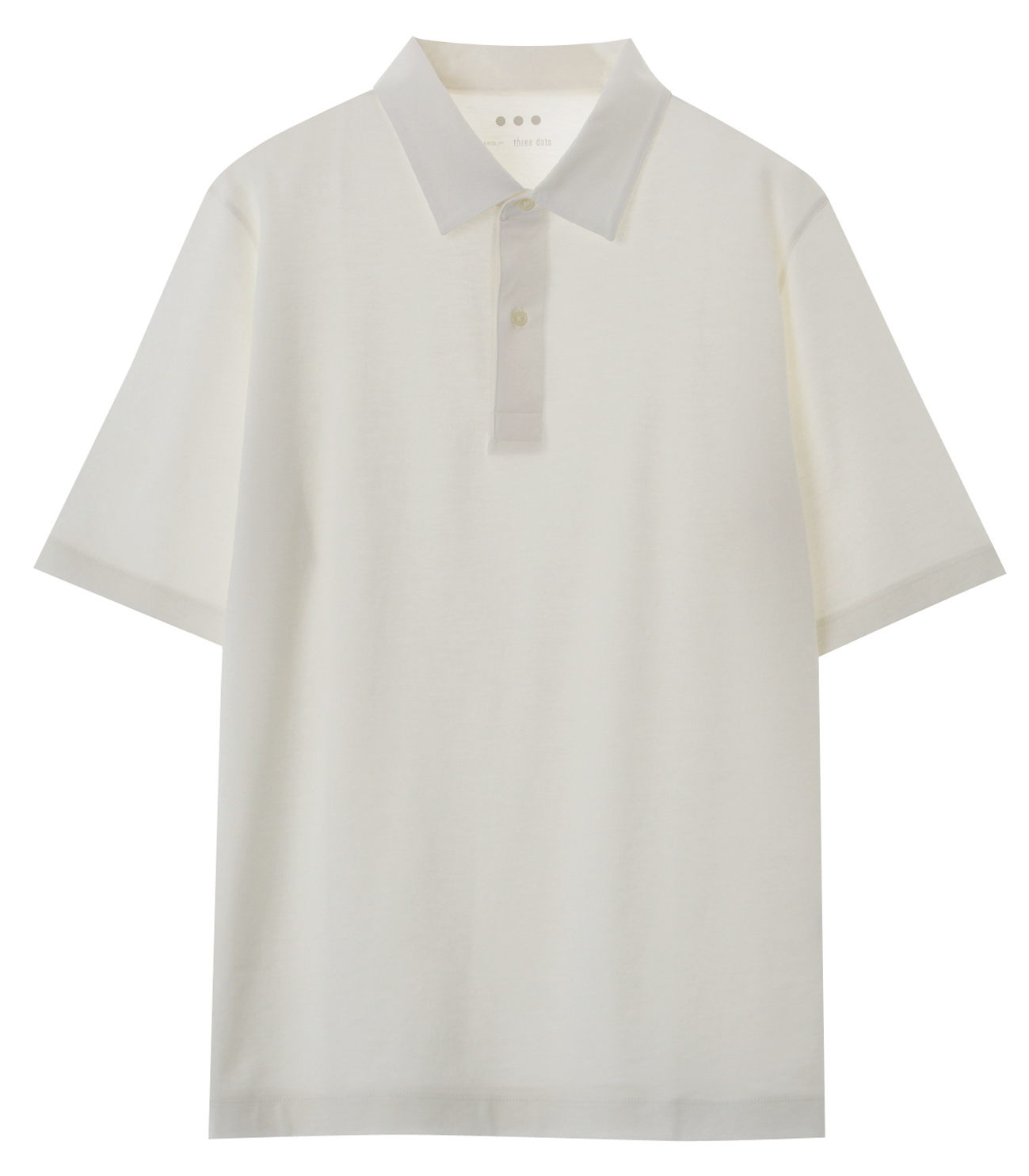 Men's cotton cashmere s/s polo 詳細画像 ivory 1