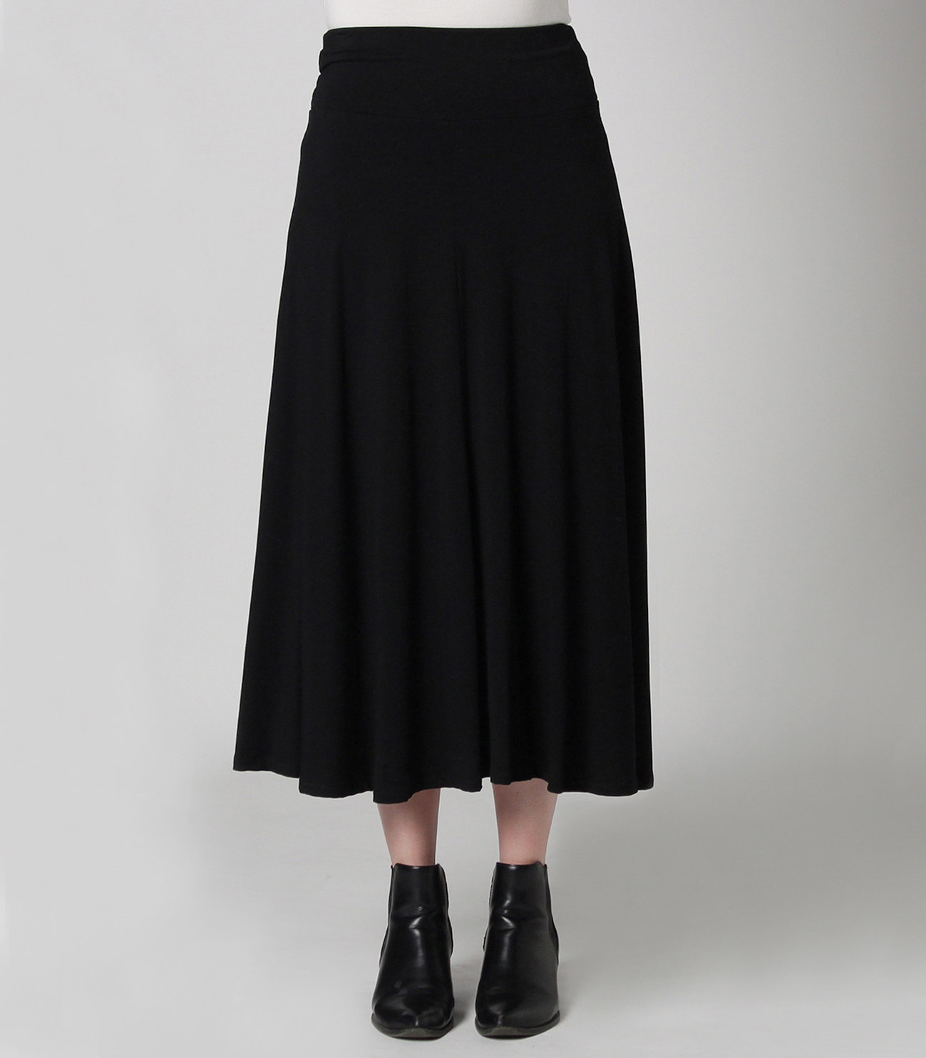 Flower print long skirt 詳細画像 black 2
