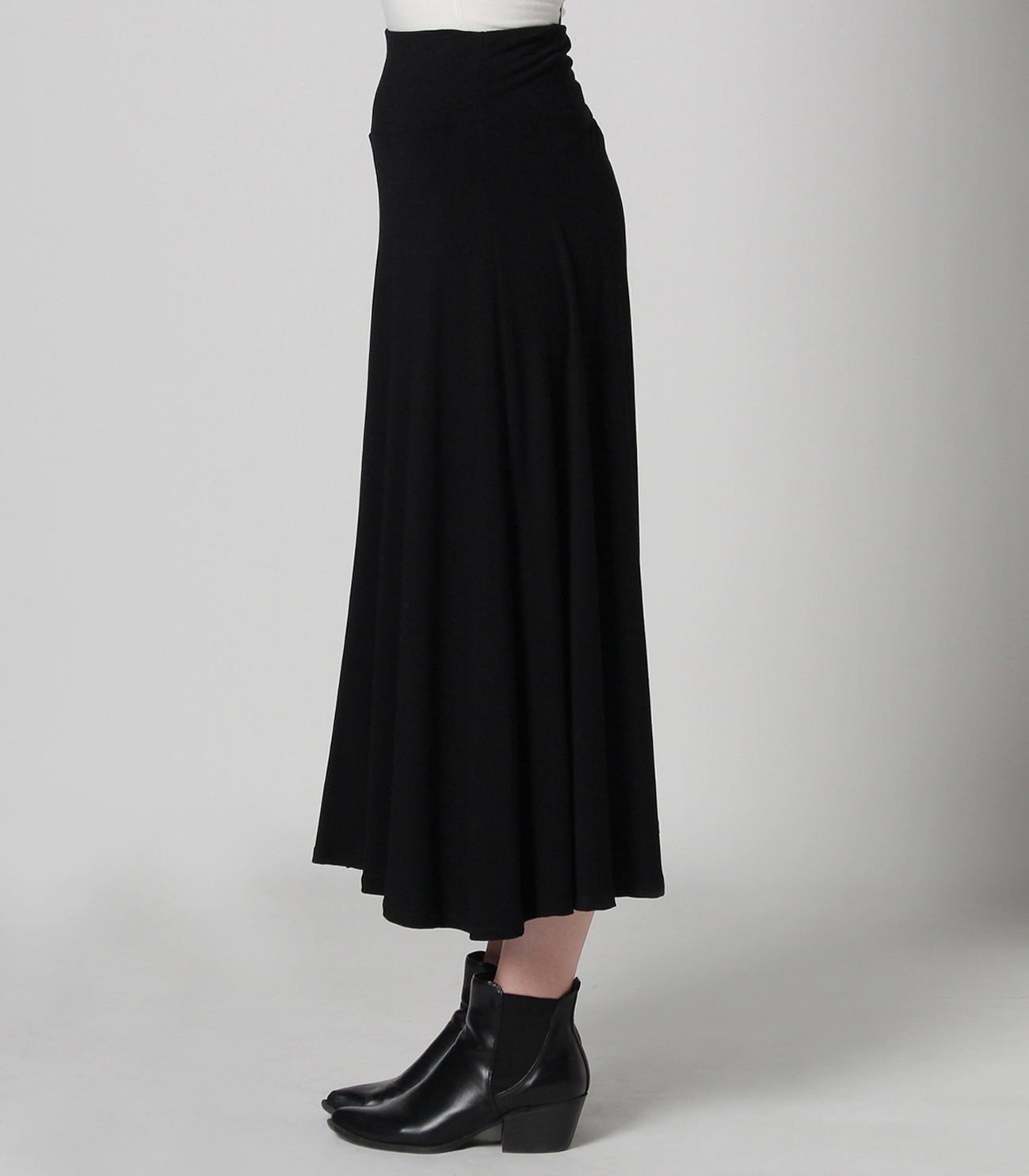 Flower print long skirt 詳細画像 black 3