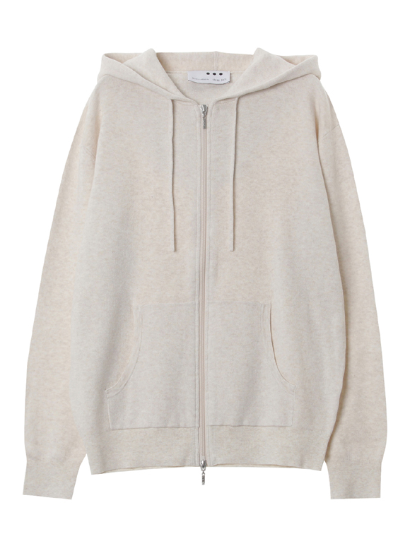 Men's cotton melange zip hoody