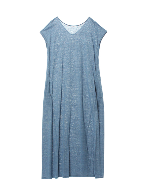 Denim linen dress