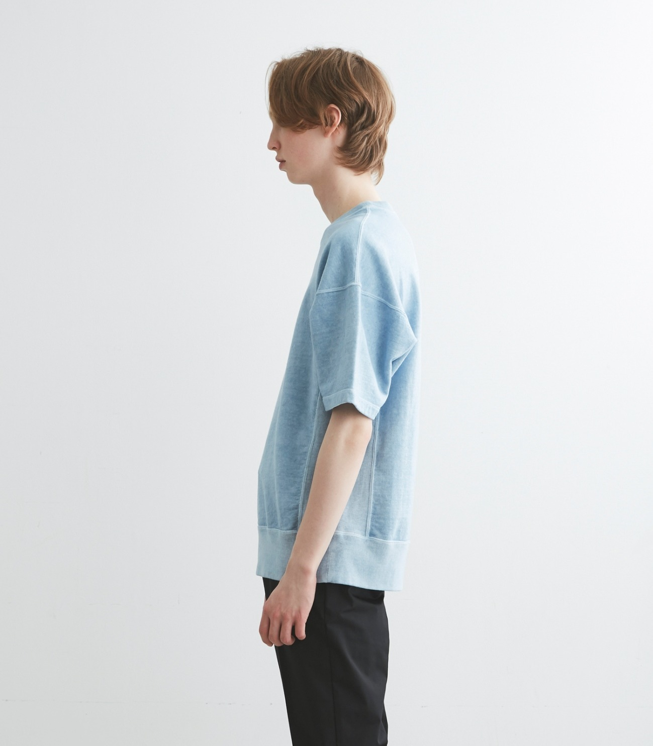 pigment dye cotton s/s  sweat 詳細画像 blue 3