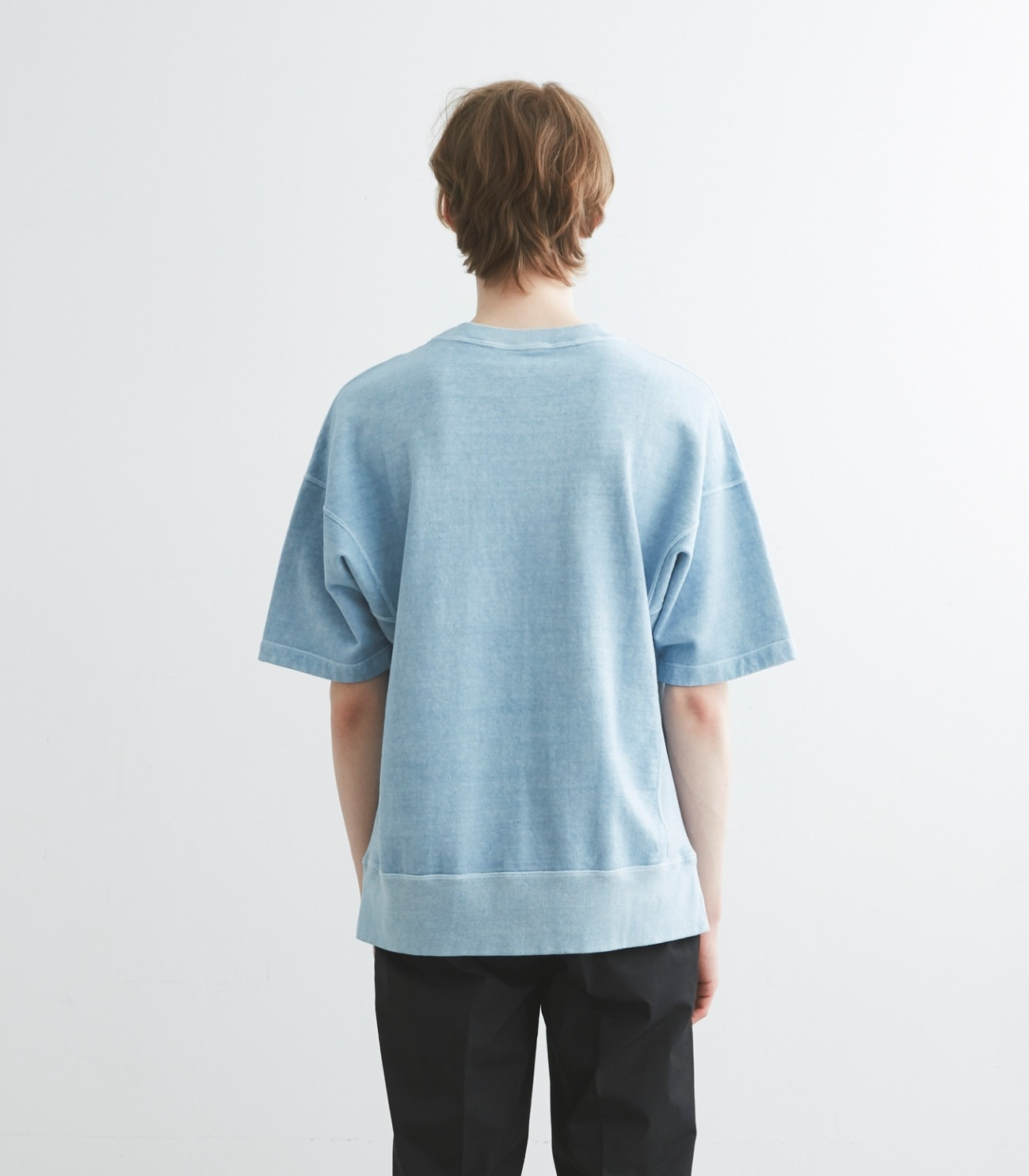 pigment dye cotton s/s  sweat 詳細画像 blue 4