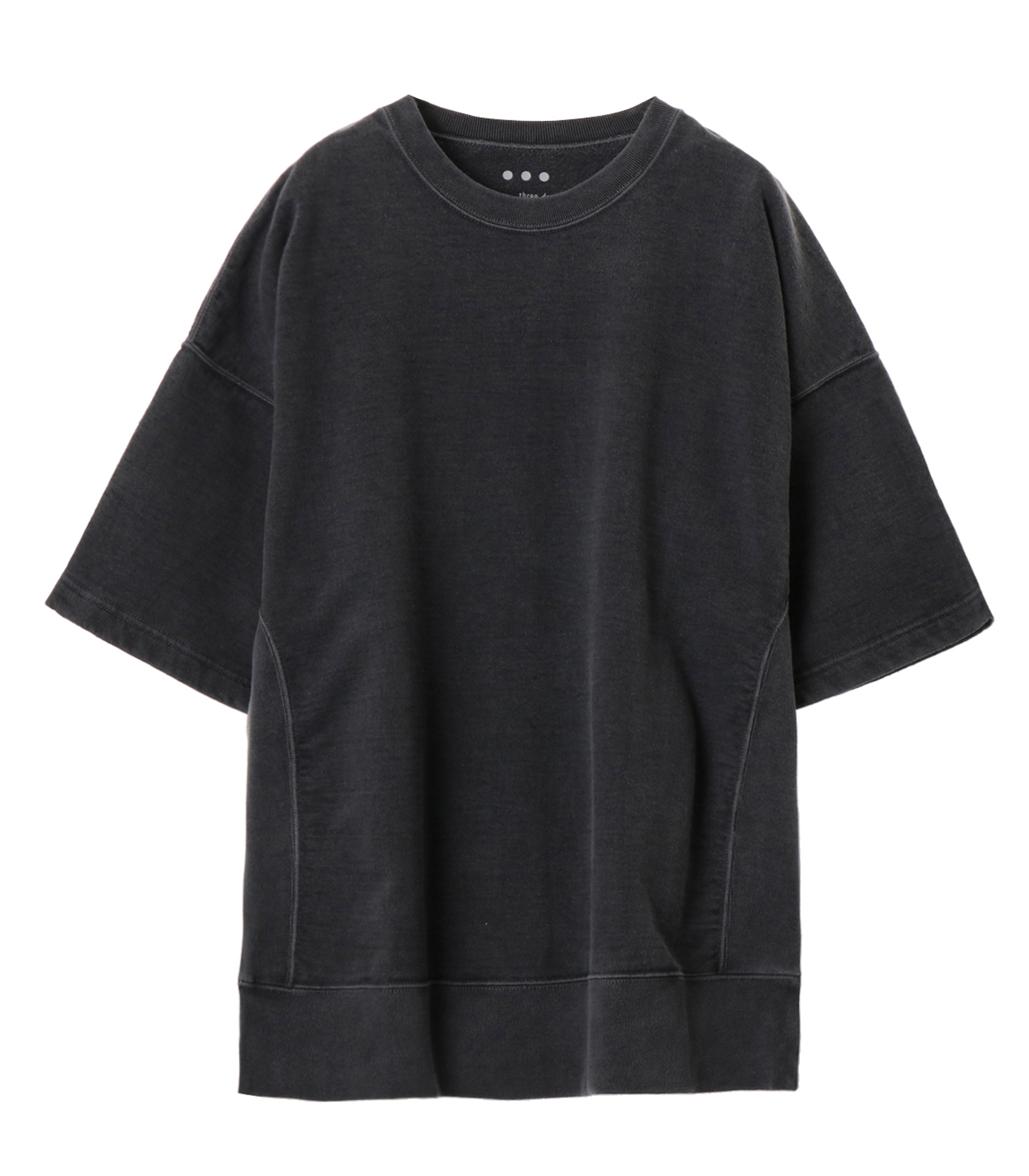 pigment dye cotton s/s  sweat 詳細画像 black 1