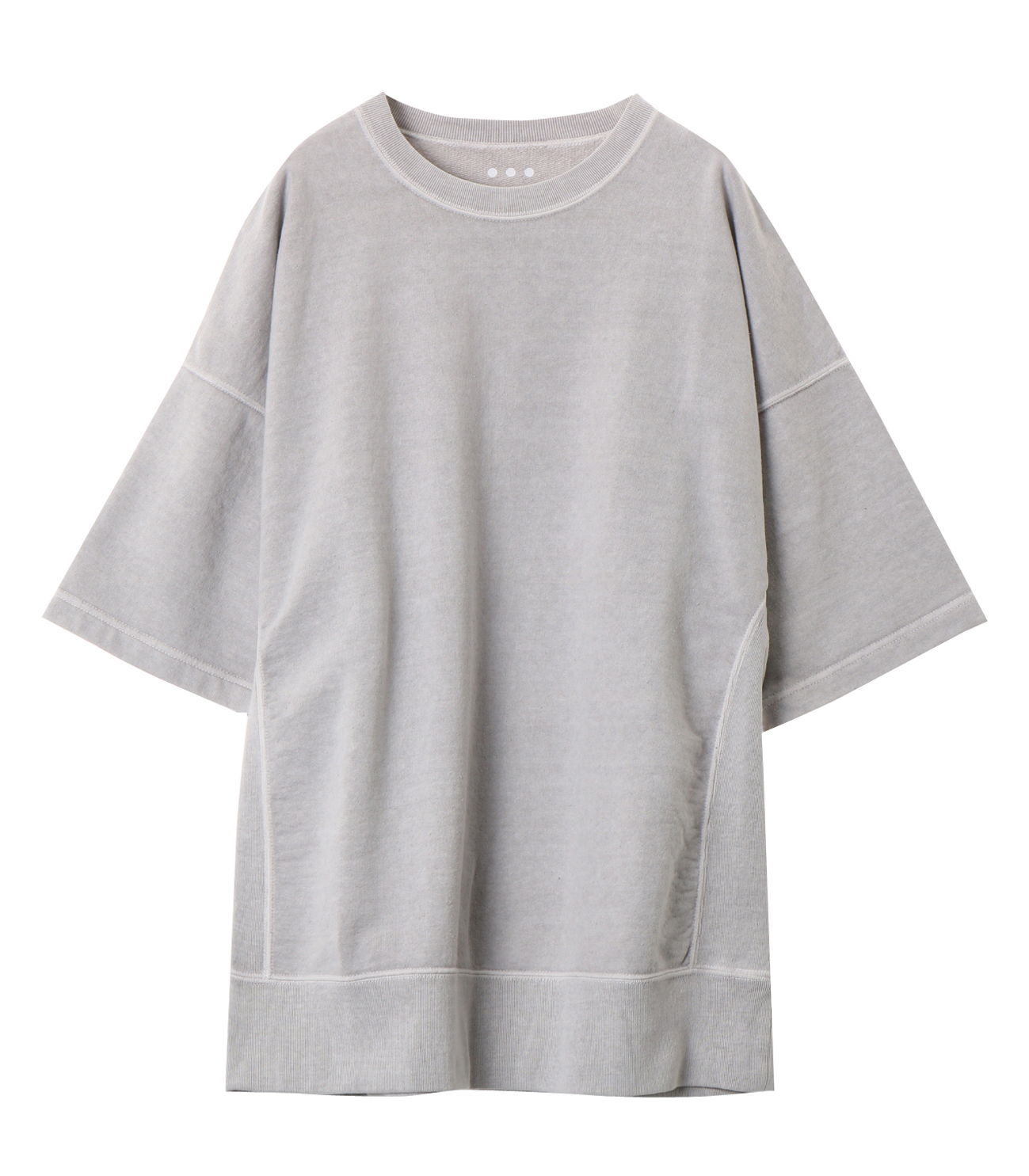 pigment dye cotton s/s  sweat 詳細画像 grey 1
