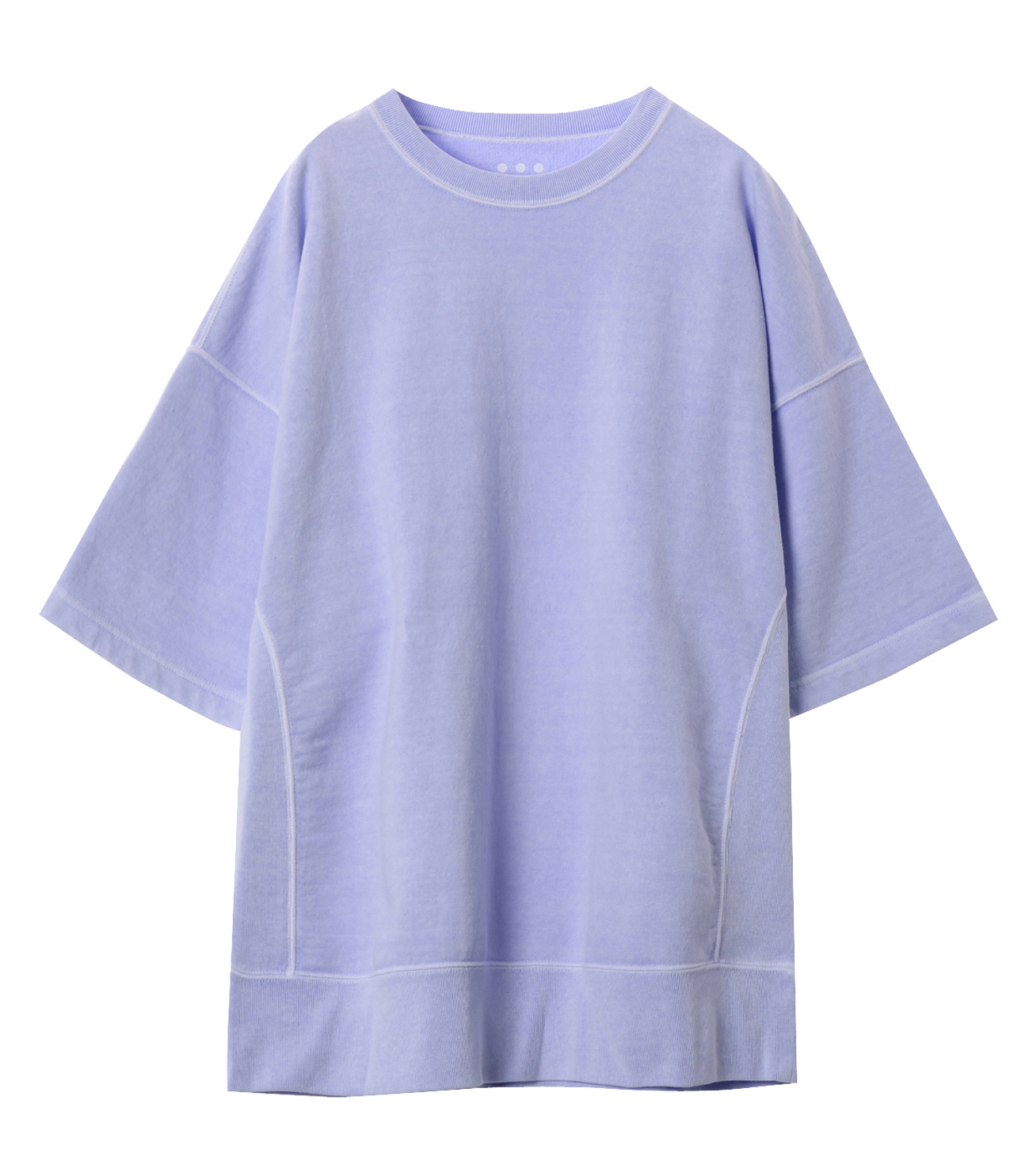 pigment dye cotton s/s  sweat 詳細画像 purple 1
