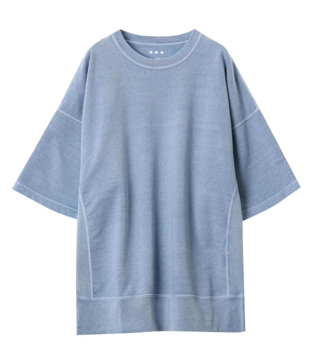 pigment dye cotton s/s  sweat 詳細画像 blue 1