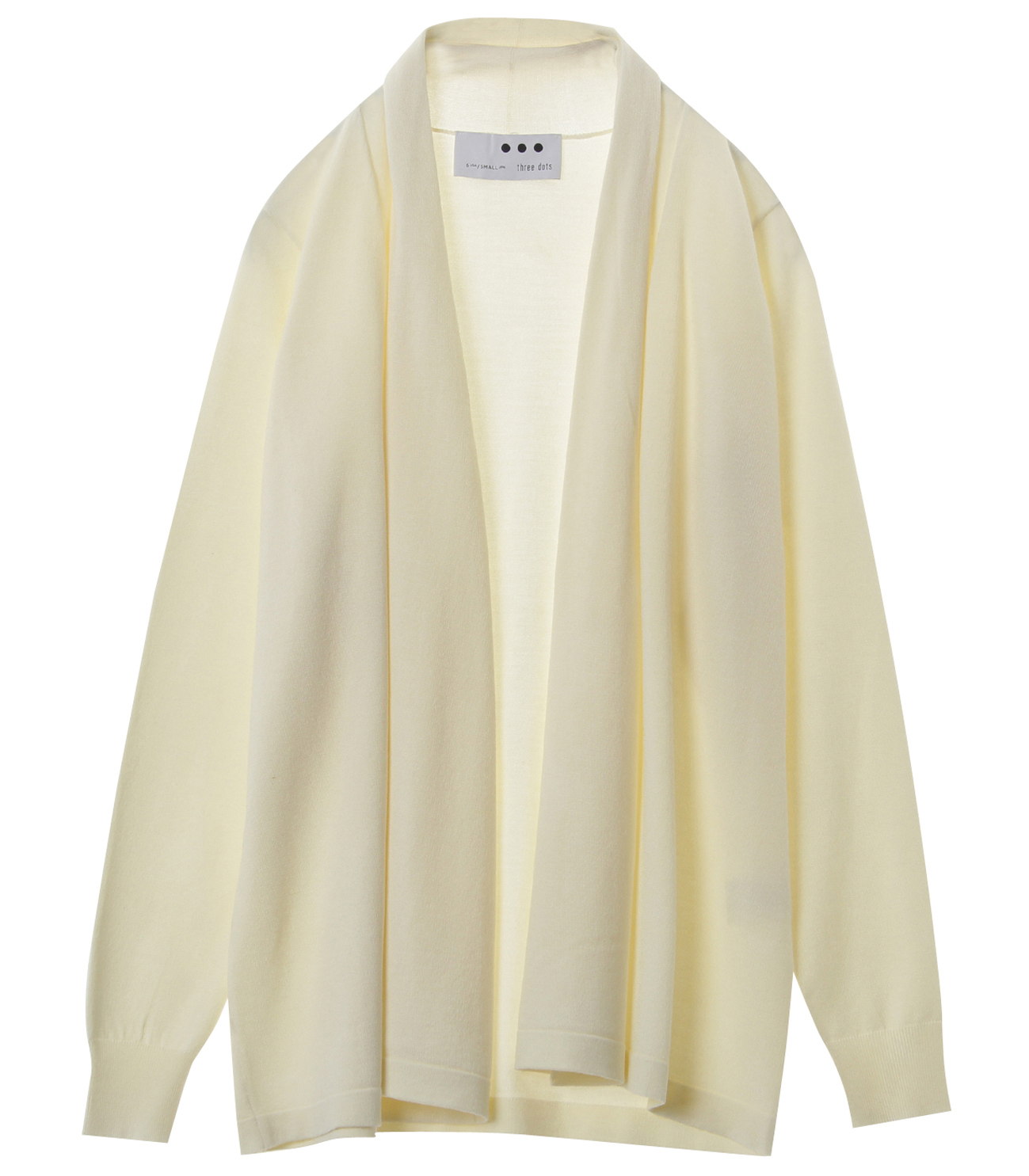 Washable silk l/s cardigan 詳細画像 off white 1