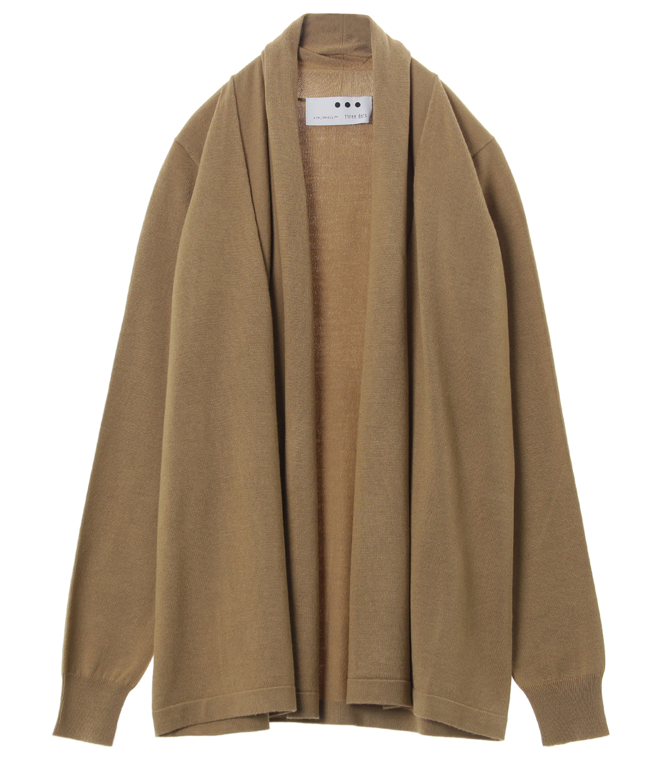 Washable silk l/s cardigan 詳細画像 beige 1