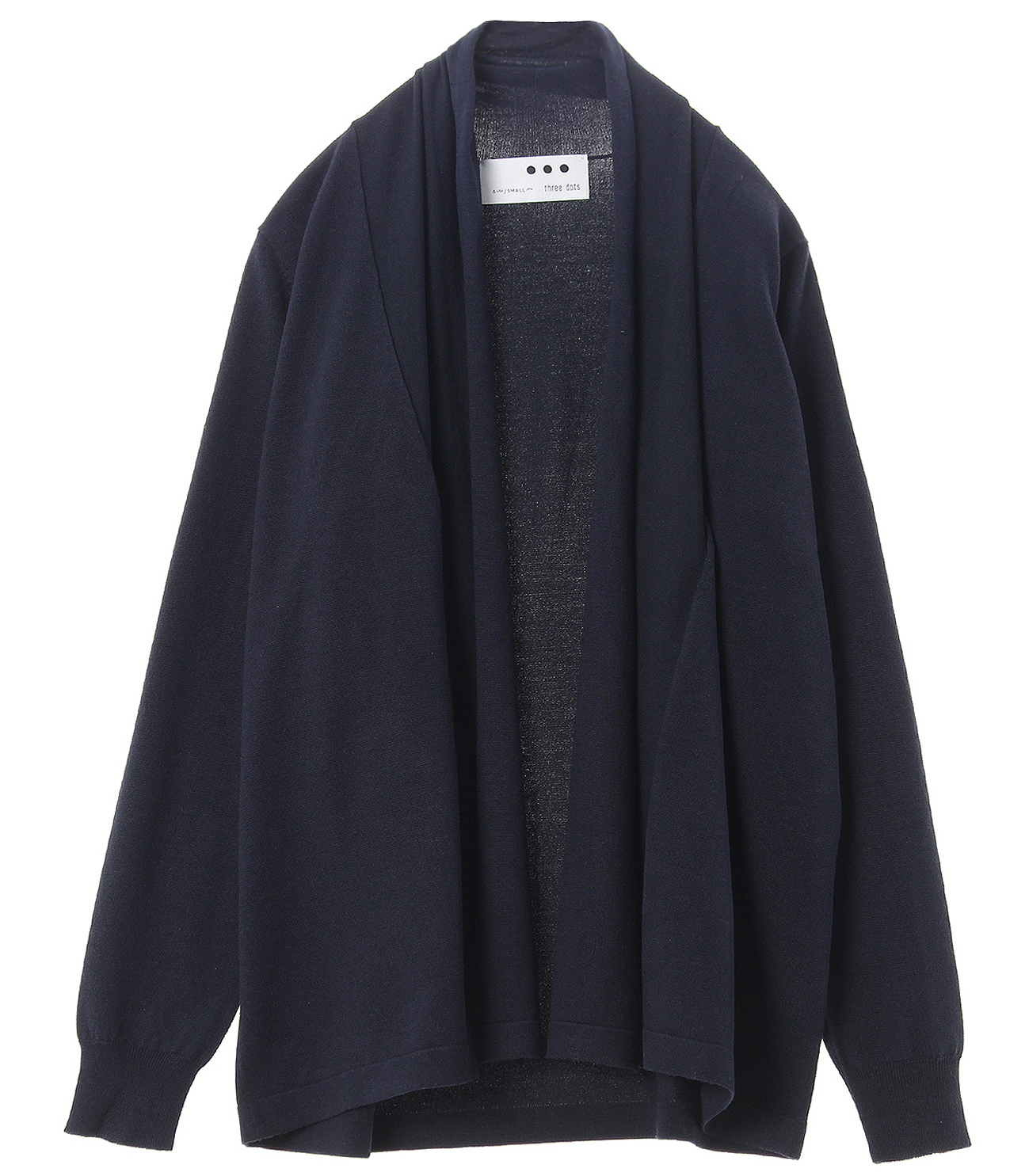 Washable silk l/s cardigan 詳細画像 navy 1