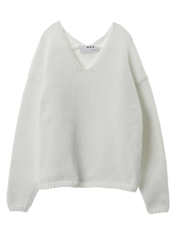 Recycle polyester sweater l/s po