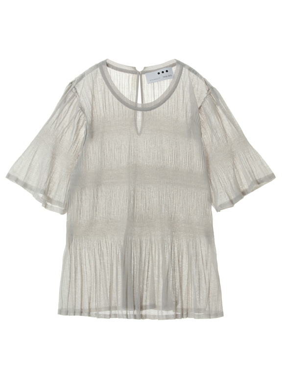 Sheer pleats top