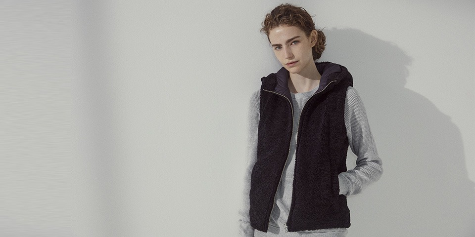 【WOMEN】eco fur reversible voa vest