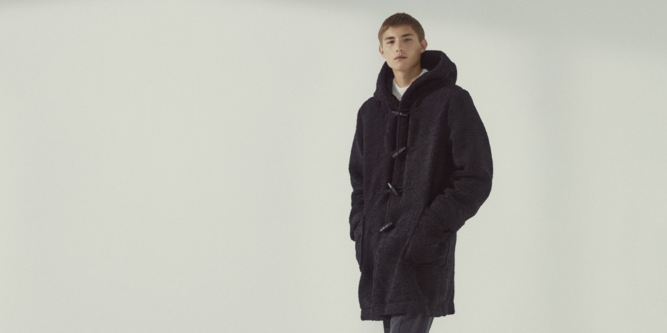 【men】eco fur duffle coat